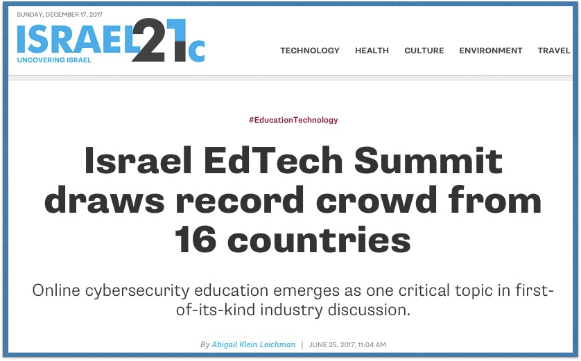 Israel EdTech Summit – One Breakthrough After Another