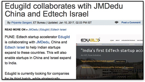 Edugild collaborates wtih JMDedu China and Edtech Israel